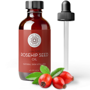 4oz Bottle of Rosehip Seed Oil and Glass Dropper